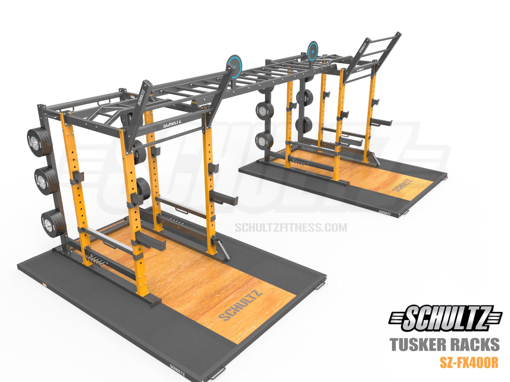 power rack with olympic lifting platform